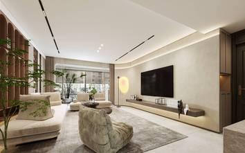 豪华型90平米现代简约风格客厅效果图