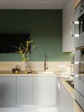 5-10万50平米小户型地中海风格厨房欣赏图