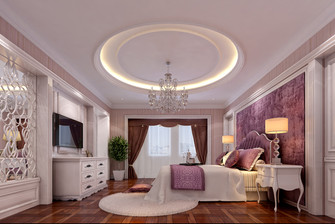 20万以上140平米别墅美式风格卧室图