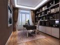 140平米四室一厅港式风格书房图片