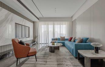 经济型90平米三室两厅现代简约风格客厅设计图