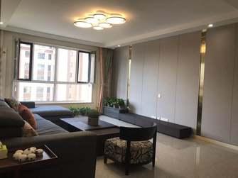 140平米三室三厅轻奢风格客厅装修案例
