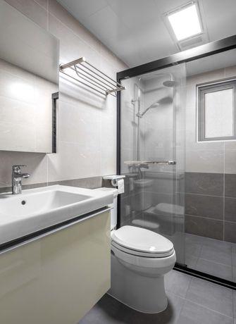富裕型80平米三室一厅北欧风格卫生间效果图