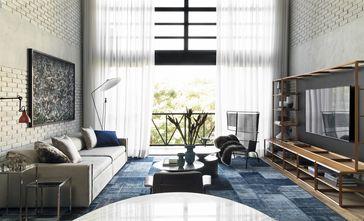 120平米三工业风风格客厅欣赏图