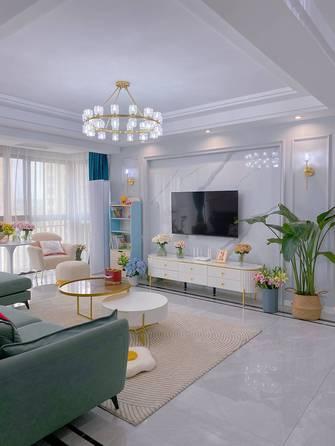 富裕型80平米三室两厅现代简约风格客厅欣赏图