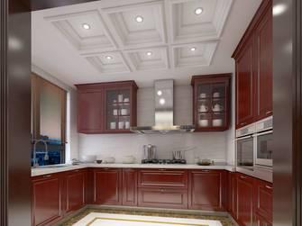 豪华型140平米三室两厅美式风格厨房装修效果图