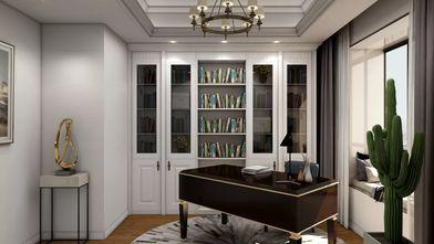 富裕型三室一厅欧式风格书房装修案例