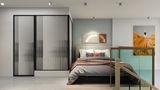 经济型30平米以下超小户型北欧风格卧室图