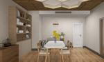 经济型70平米公寓日式风格餐厅图