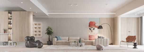 三田园风格客厅装修效果图