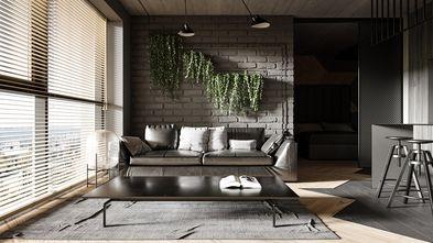 40平米小户型工业风风格客厅装修效果图