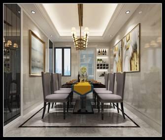 140平米四室两厅轻奢风格餐厅图片大全