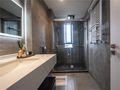 140平米三室三厅现代简约风格卫生间图片大全