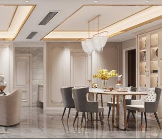130平米四法式风格餐厅装修案例