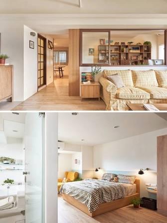 110平米三室两厅日式风格卧室装修图片大全