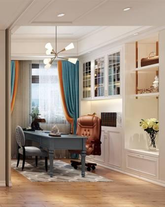 豪华型140平米三室两厅欧式风格书房装修案例