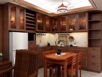 经济型100平米四室一厅中式风格餐厅效果图