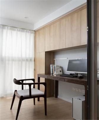 经济型90平米三室两厅日式风格书房欣赏图