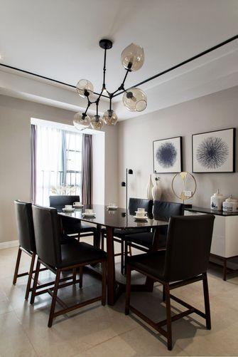 140平米三室两厅现代简约风格餐厅装修效果图