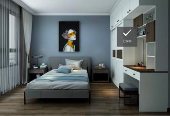经济型70平米一室一厅田园风格卧室图