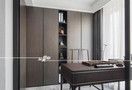 富裕型140平米三室两厅中式风格书房装修效果图