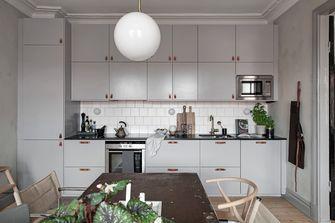富裕型80平米三室两厅田园风格餐厅装修效果图