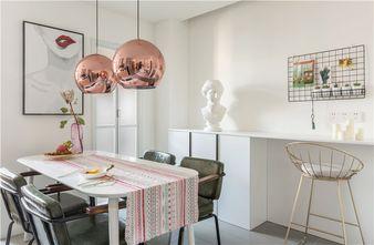 富裕型70平米一室一厅北欧风格餐厅图片大全
