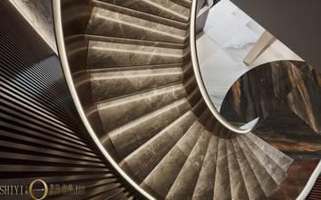 豪华型140平米别墅轻奢风格楼梯间装修效果图