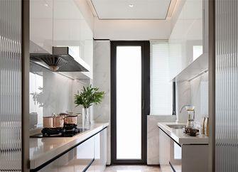 富裕型140平米三室两厅现代简约风格厨房装修图片大全