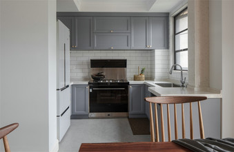 10-15万120平米四美式风格厨房装修案例