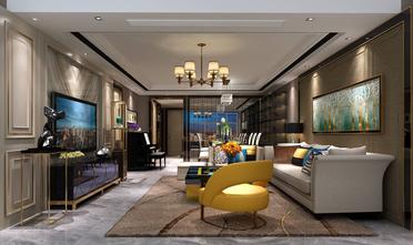 豪华型100平米三室两厅混搭风格客厅欣赏图