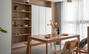 富裕型120平米三室两厅日式风格餐厅图片