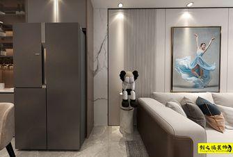 经济型90平米三室两厅现代简约风格客厅装修案例
