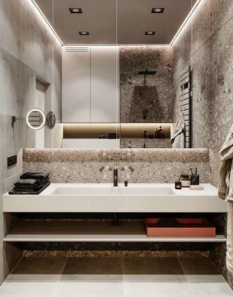 140平米三室一厅现代简约风格卫生间图片大全