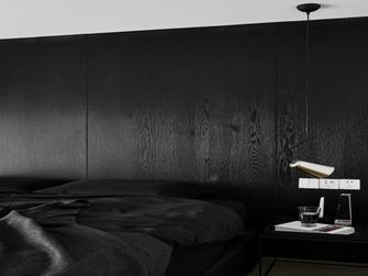 50平米复式现代简约风格卧室效果图