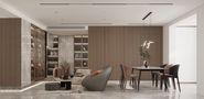 豪华型140平米复式现代简约风格客厅装修图片大全