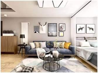 10-15万100平米四室一厅北欧风格客厅图片大全
