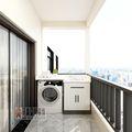 10-15万110平米四室两厅现代简约风格阳台图片
