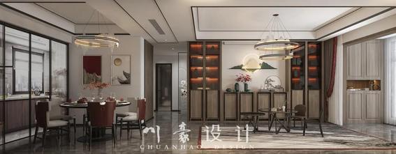 5-10万100平米三室三厅中式风格客厅图片大全