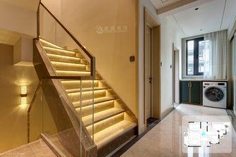 富裕型140平米别墅轻奢风格楼梯间图