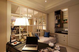 20万以上110平米三室一厅欧式风格书房图