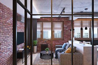 3-5万60平米公寓工业风风格客厅效果图