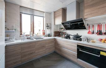 富裕型110平米三室一厅北欧风格厨房图片大全