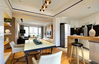 10-15万110平米四室一厅现代简约风格餐厅效果图