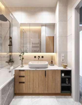 富裕型90平米三室两厅美式风格卫生间欣赏图