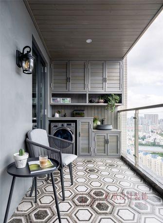 20万以上130平米复式现代简约风格阳台设计图