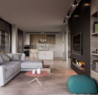 50平米一室两厅现代简约风格客厅图