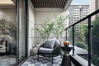 富裕型110平米三室一厅中式风格阳台装修图片大全