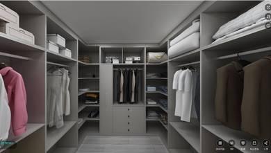 15-20万130平米三室两厅中式风格衣帽间效果图