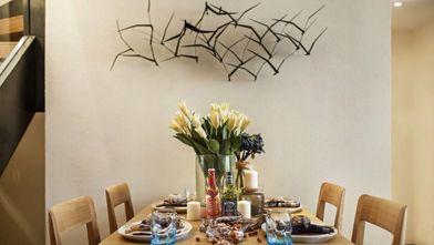 15-20万90平米三室一厅欧式风格餐厅装修效果图